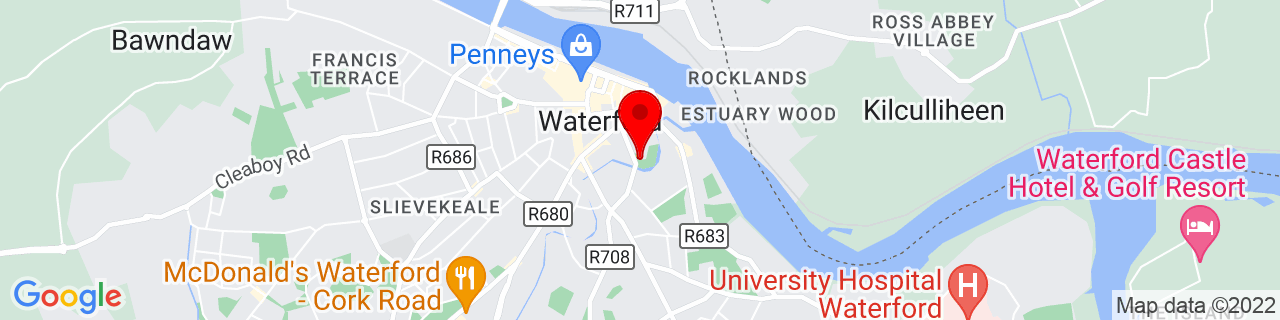 Google Map of 52.257133333333336, -7.106458333333333