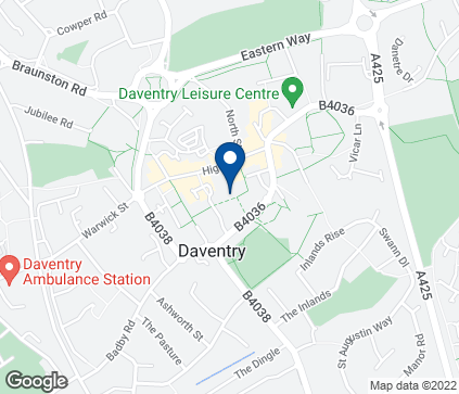 Map of 26 Bowen Square in Daventry