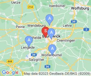 Karte für Disc Golf-Anlage Braunschweig Westpark