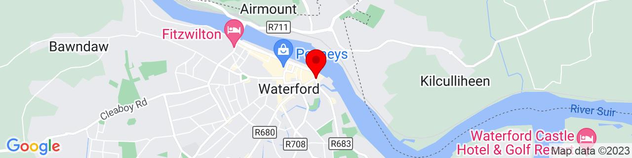 Google Map of 52.25998055555556, -7.105438888888888