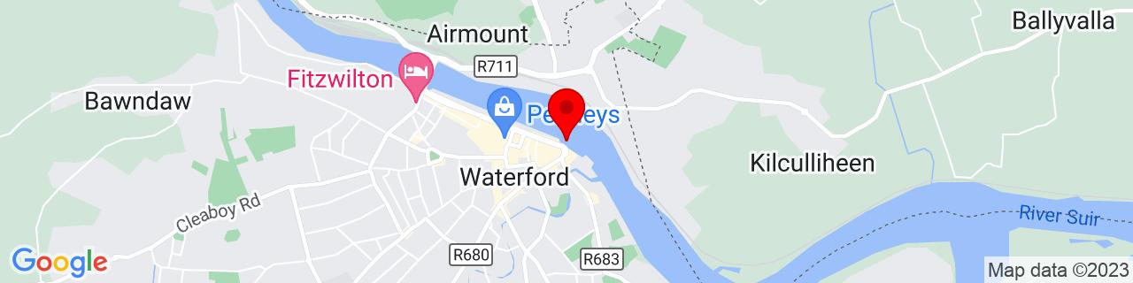 Google Map of 52.261002777777776, -7.105052777777777