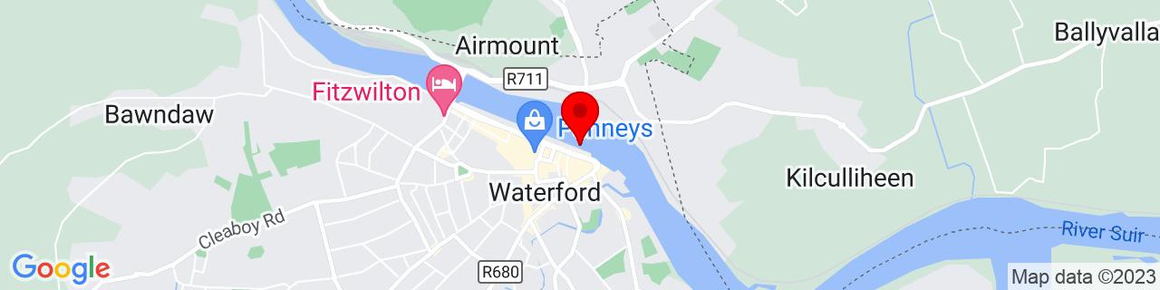 Google Map of 52.26161111111111, -7.106769444444444