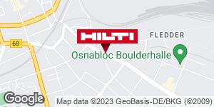 Wegbeschreibung zu Hilti Store Osnabrück