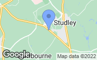 Map of Studley, Warwickshire