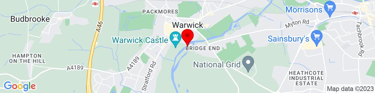 Google Map of 52.27845, -1.5849916666666668