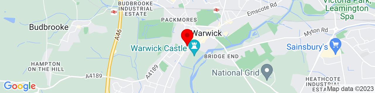 Google Map of 52.2799, -1.5905000000000002