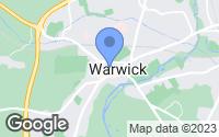Map of Warwick, Warwickshire