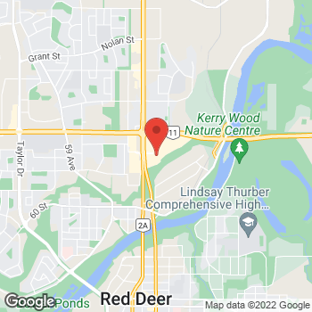 Map of Staples Print & Marketing Services at 4747 67th Street, Red Deer, AB T4N 6H3