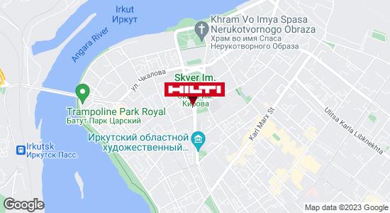 Get directions to Региональный представитель Hilti в г. Иркутск