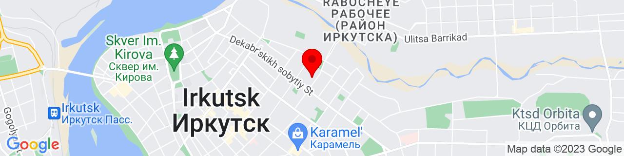 Google Map of 52.28697409999999, 104.30501830000003