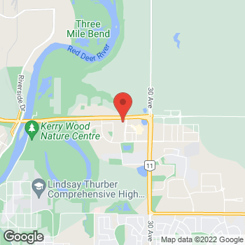 Map of Tim Hortons at 62 Carleton Ave, Red Deer, AB T4P 0T9