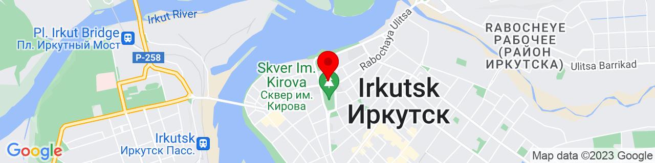 Google Map of 52.2895979, 104.2805843