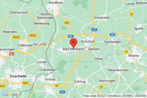 Karte Bad Bentheim