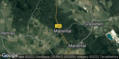 Google Map of Mariental bei Helmstedt