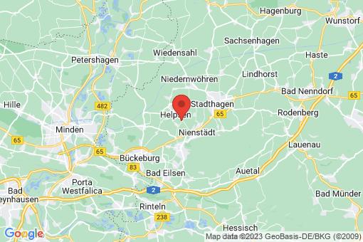 Karte Helpsen Kirchhorsten