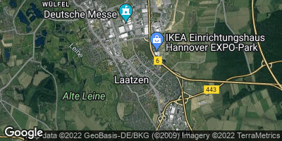 Google Map of Laatzen bei Hannover