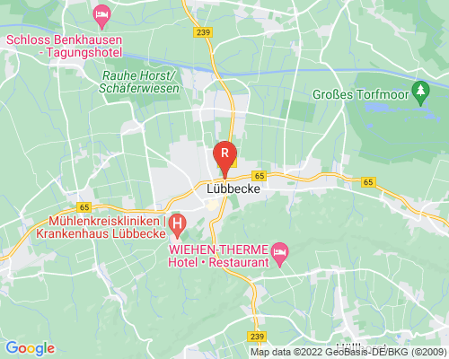 Google Karte von Rohrreinigung Lübbecke