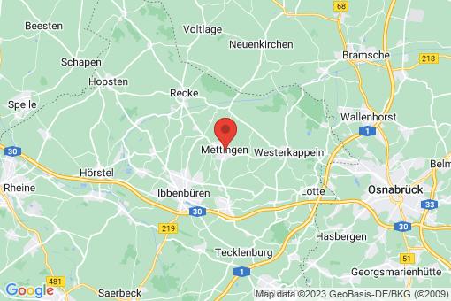 Karte Mettingen