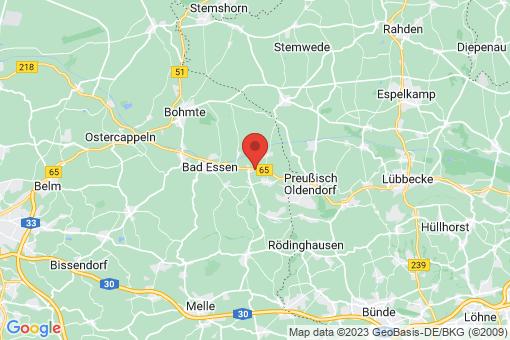 Karte Bad Essen