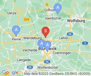 Karte für Disc Golf-Anlage Braunschweig Lessing Gymnasium