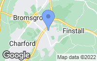 Map of Bromsgrove, Worcestershire