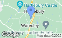 Map of Hartlebury, Worcestershire