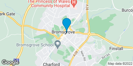 Map of 92 High Street in Bromsgrove