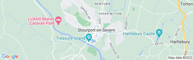 Map Of Stourport-on-Severn