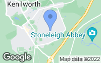 Map of Kenilworth, Warwickshire