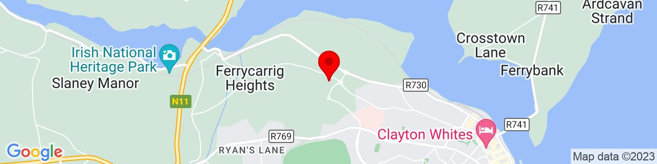 Google Map of 52.347008333333335, -6.490116666666666