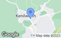 Map of Kenilworth, Warwickshire
