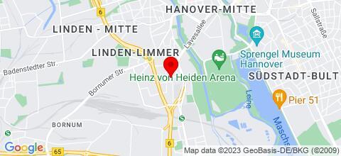 Google Map für Über 110 eigene Apartments - GRUPPENSPEZIALIST - 0511 22 80 000