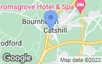 Map of Catshill, Worcestershire