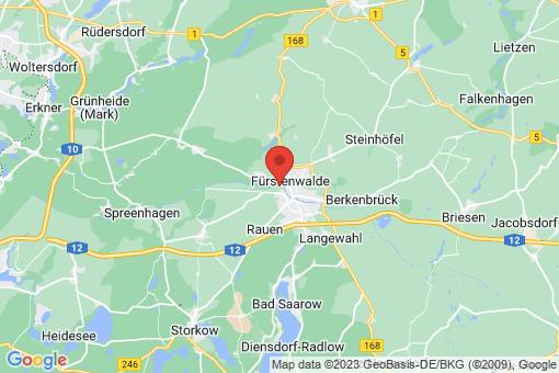 Karte Fürstenwalde/Spree Fürstenwalde