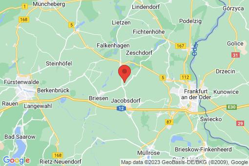 Karte Jacobsdorf Petersdorf bei Briesen