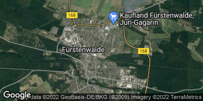 Google Map of Fürstenwalde / Spree