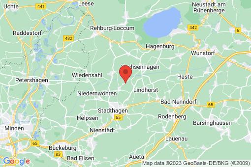 Karte Lauenhagen Hülshagen