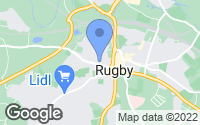 Map of Rugby, Warwickshire