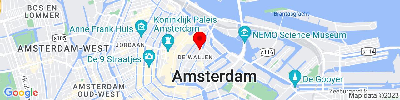 Google Map of 52.37305555555555, 4.8999999999999995