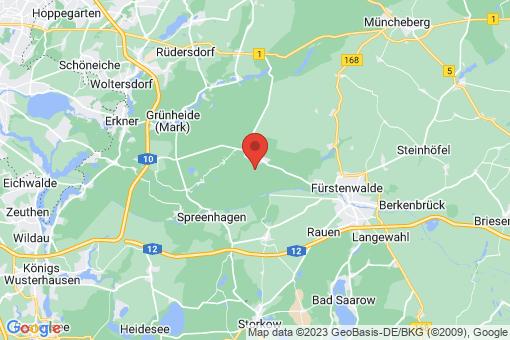 Karte Grünheide (Mark) Hangelsberg