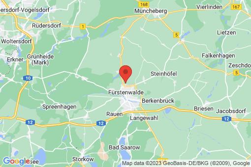 Karte Fürstenwalde/Spree