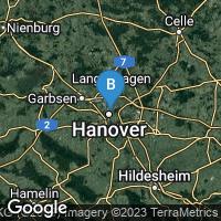 Lagekarte von Hannover