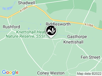 A static map of Knettishall Heath Nature Reserve