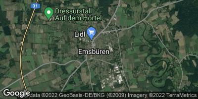 Google Map of Emsbüren