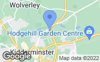 Map of Kidderminster, Worcestershire