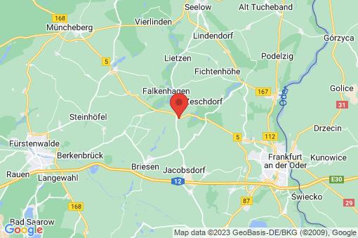 Karte Zeschdorf Petershagen