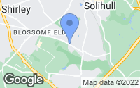 Map of Solihull, West Midlands