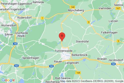 Karte Fürstenwalde/Spree Trebus