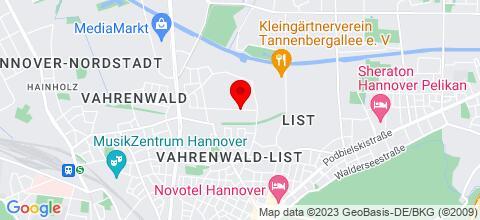 Google Map für Hannover-unterkunft-Wohnung