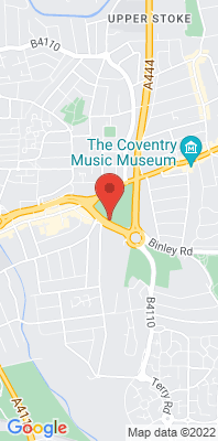 Map showing the location of the Coventry Binley Road monitoring site